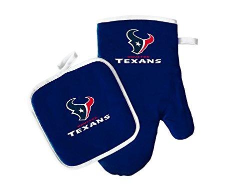 Pro Specialties Group NFL Houston Texans Oven Mitt and Pot Holder Set