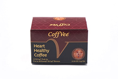 CoffVee K-Cups (Mayan Decaf Roast Coffee)- Infused with heart healthy resveratrol- 12-count K-Cups