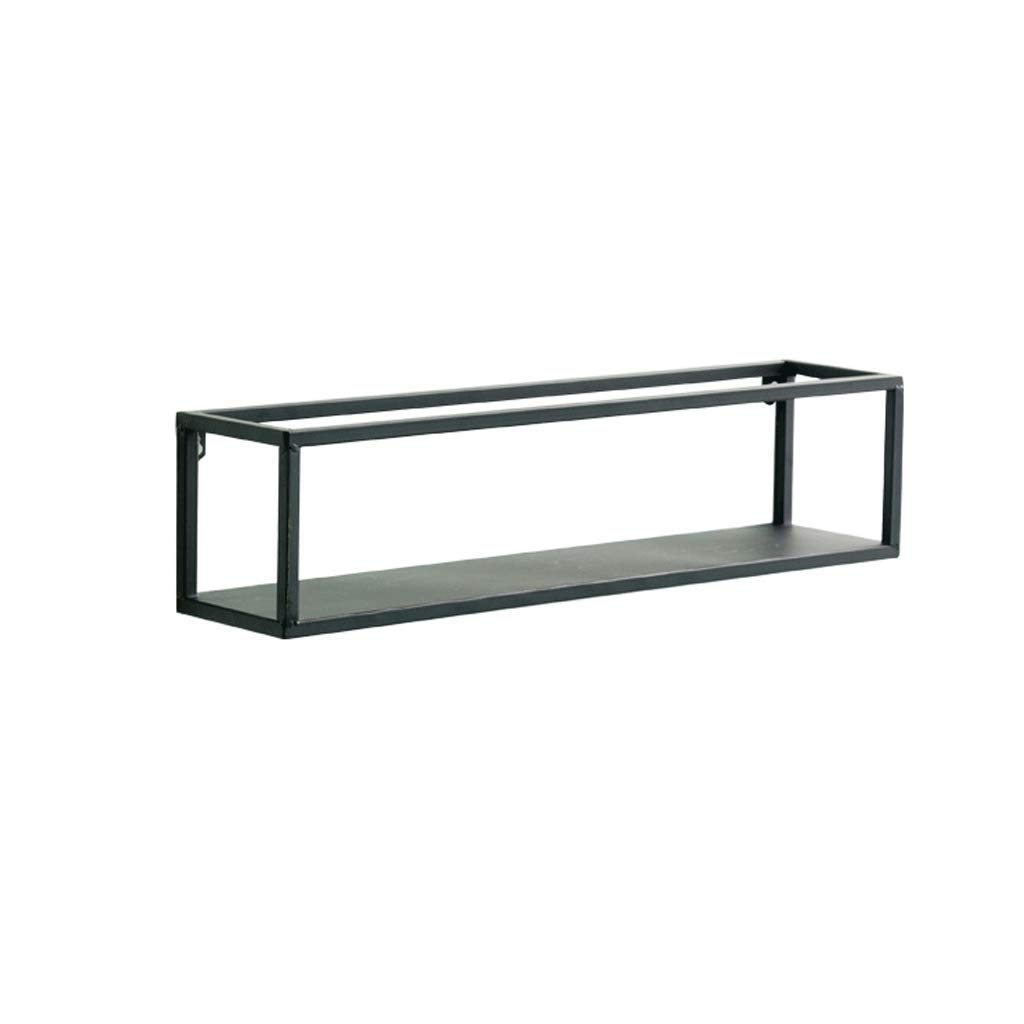 Lil Nordic Creative Home Living Room Wall Shelf Restaurant Wall Shelf Hanging Wall Hanging Black