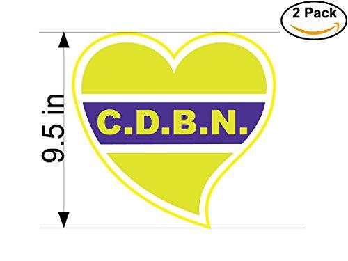fan products of Club Defensores del Barrio Nebel de Concordia Argentina Soccer Football Club FC 2 Stickers Car Bumper Window Sticker Decal Huge 9.5 inches