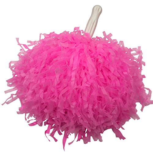 OuMuaMua 6 Pack Cheerleader Pom Poms Cheerleading pom poms for Sports Game Supply Sports Accessory Pink]()