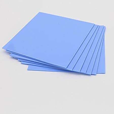 6W//m.k Thermal Conductivity//Non Conductive//Insulation//heat resistance//High temperature resistance//Heat Sink Silicone Sheet Pads For Laptop Heatsink//GPU//CPU//LED Cooler 200x200x1.5mm Thermal Pad