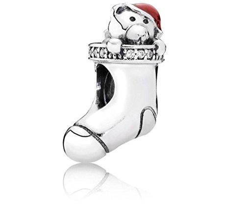 Selina Fit Pandora Bracelet Authentic New S925 Red Enamel Christmas Stocking Charm (Rubies Halloween Jamaica)