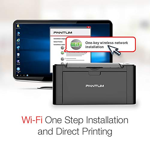 Pantum Monochrome Laser Printer with Wireless Networking and Mobile Printing P2502W by Pantum (Image #5)