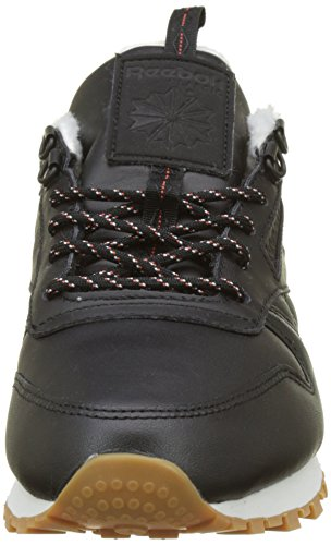 Burnt Chalk Mujer Leather Amber Reebok para Classic Arctic Negro Black Gum Zapatillas w8FqZ1