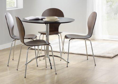 Muebles Link Soho 90 cm mesa redonda, nogal: Amazon.es: Hogar
