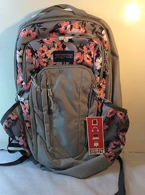 JANSPORT Computer Backpack Beacon Coral Sparkle Pretty Po...