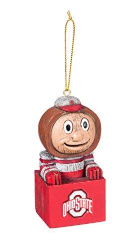 Team Sports America Ohio State Buckeyes Team Mascot Ornament Christmas Tree Ohio