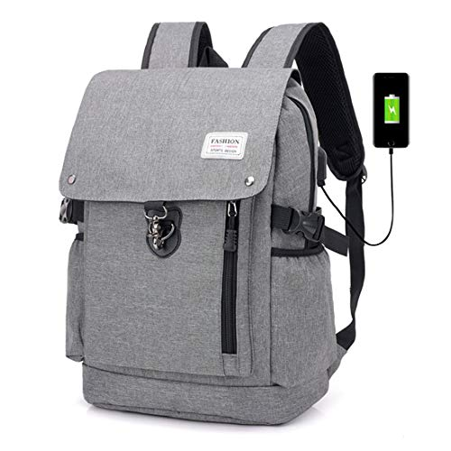 pollici grigio Pc resistenza for alpinismo nero uomo Charge Backpack libero Bags al tempo 17 terremoto colore Usb affari Cvthfyky xq0UR0