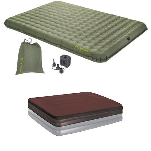 Lightspeed Outdoors 2 Person PVC Free Air Bed with Foam Topper