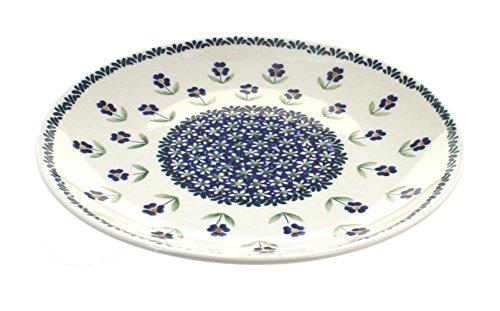 (Blue Rose Polish Pottery Blue Daisy Dinner)