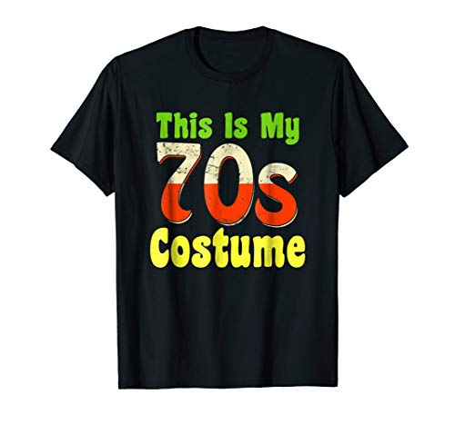 This Is My 70's Costume Halloween Hippie T-Shirt -