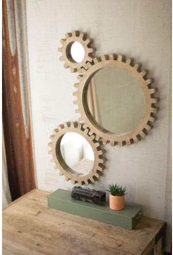 SET THREE WOODEN GEARS MIRRORS product image