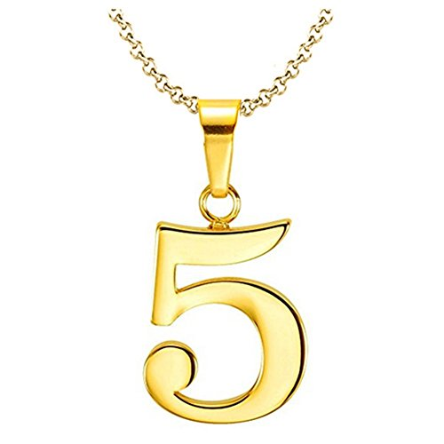925 Sterling Silver Number 0-9 Charms Pendant Necklace with Chain (5)