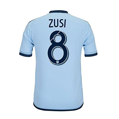 蛇行着飾る金銭的Adidas ZUSI #8 MLS Sporting Kansas City Home Jersey 2016 (Authentic name & number) /サッカーユニフォーム スポルティング?カンザスシティ ホーム用 ズシ
