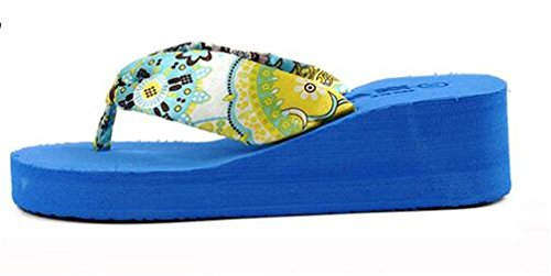épaisse Chaussures Femmmes Summens Sandales Bleu Tongs Confortables Croûte et qfHnCA7wx