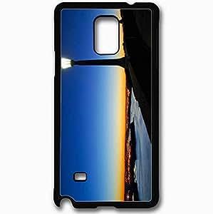 Unique Design Fashion Protective Back Cover For Samsung Galaxy Note 4 Case Lantern River Lights Evening Black