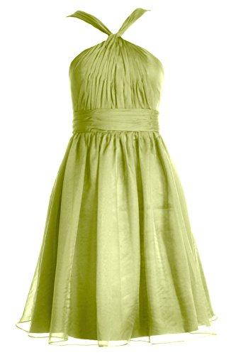 Chiffon Party Verde Cocktail Short Knotted Women Bridesmaid Macloth Formal Oliva Gown Dress wqpaBnxE