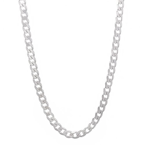 Italian Crafted 2.8mm Solid 925 Sterling Silver Cuban Curb Link Chain, 20