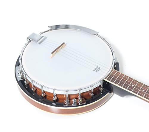 5 String Resonator Banjo with 24 Brackets | Closed Back and Geared 5th Tuner | Resoluute - Image 5