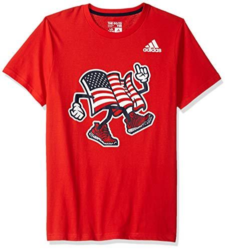 - adidas Boys' Big Short Sleeve Graphic Tee Shirt, USA T red S (8/10)