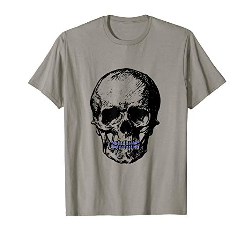 Creepy Skull With Braces Cool Halloween T-Shirt -
