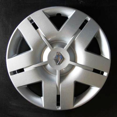 Jeu de 4 Enjoliveurs Neuf pour Renault Laguna 2 / Modus/Clio 3 / Scenic 2 / Megane 2 / Megane 3 / Laguna 3 / Espace 4 / Vel Satis/Twingo 2 / Kangoo 2 avec Roues Originales en 16 Pouces Wheeltrims 443L/16