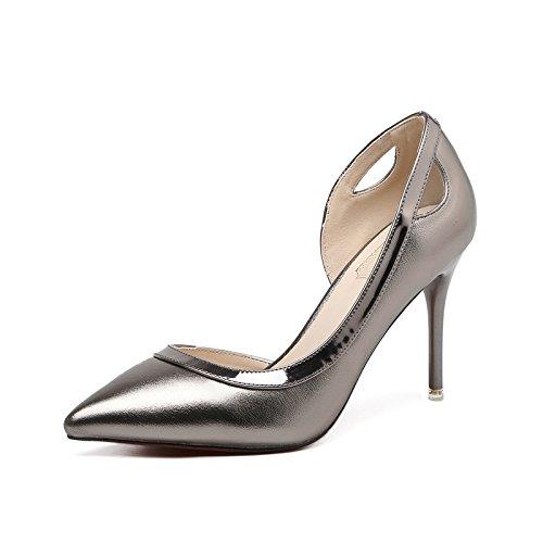 GAOLIM Zapatos De Tacón Alto, Solo Zapatos Zapatos De Mujer Fina Con Ultra-Light Zapatos Con La Punta Expuesta, Zapatos Con Tacón Alto-Alto (8Cm O Más) El color
