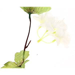 UUPP 2Pcs 7.2FT Artificial Cherry Blossom Flower Garland Silk Fake Flower Hanging Vine for Home Hotel Office Garden Wedding Party Outside Decoration, White 4