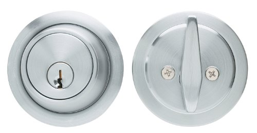 Global Door Controls Residential Deadbolt in Brushed Chrome
