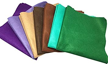 Misscrafts 7pcs 18 X 18 1.4mm Thick Soft Felt Nonwoven Fabric Sheet Pack DIY Craft Patchwork Sewing Squares Assorted Colors