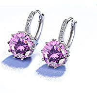 ANDI ROSE Jewellers 925 Sterling Silver Rhinestones Hoop Stud Earrings for Women