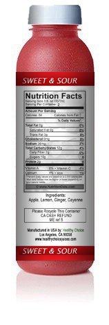 Healthy Choice Juices - Sweet & Sour - Apple, Lemon, Ginger, Cayenne Juice - 6 Bottles by Healthy Choice Juices