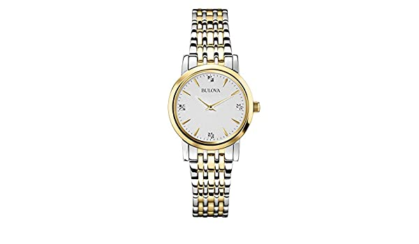 Amazon.com: Bulova 98P115 Mens Two Tone Diamonds Thin Series Watch: Watches
