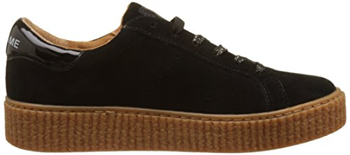 Baskets Suede Sole Beige Name Noir Basses Mastic Sneaker Black No Picadilly Femme wf1qUFB