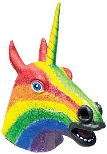 HMS Men's Rainbow Unicorn Mask, One Size