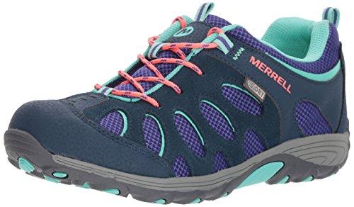 Merrell Girls' Chameleon Low Lace WTRPF Sneaker, Blue, 12 Medium US Little Kid