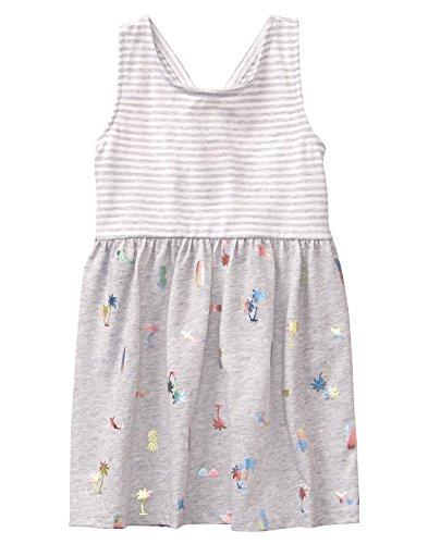 2t Girl Gymboree - Gymboree Girls' Toddler Sleveless Cross Back Dress, Heather Grey, 2T