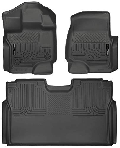 (Husky Liners 2015-2017 Ford F-150 Floor Liners Full Set (Includes 1st and 2nd Row) Fits Supercrew (CrewCab) Models Only)