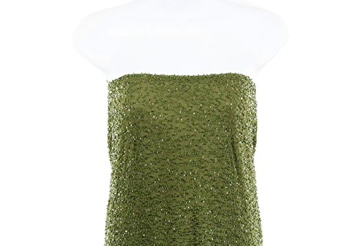 J Vert Équipage Perles Robe De Robe Formelle Sz 6 Échantillon Unique En Son Genre!