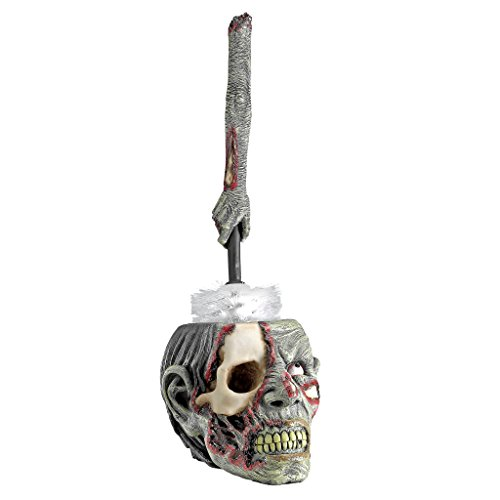 Toilet Brush Set - Zombie Skull Flush Bathroom Decor - Toilet Bowl Brush