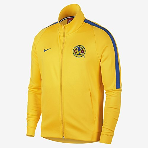 Football Signature Jacket - NIKE Mens Club America Franchise Soccer Jacket 868910-719_L - Tour Yellow/Varsity Royal/Varsity Royal