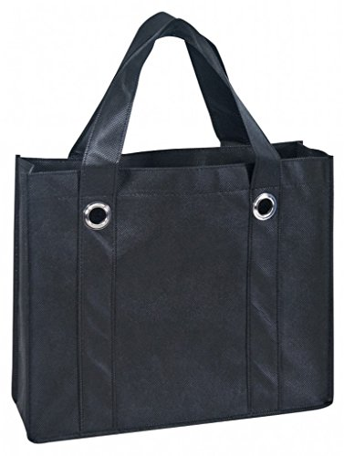 DDI 1923611 Non Woven Tote Bag With Fabric Covered Bottom44; Black by DDI