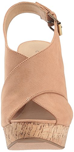 Chinese Laundry Vrouwen Myya Wedge Sandaal Camel Suede