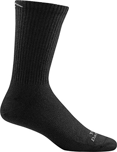 Darn Tough Tactical Micro Crew Cushion Socks ( T4066 ) Unisex (Black, Medium)
