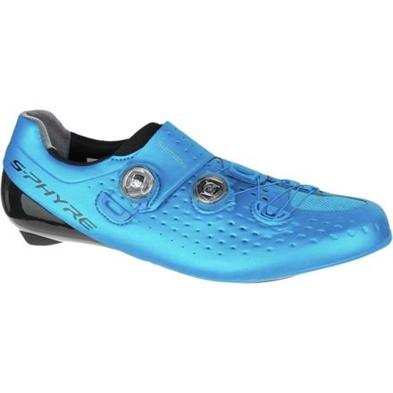 Shimano SH-RC9 S-PHYRE Bicycle Shoe - Wide - Mens Blue, 43.0