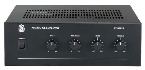 Pyle PCM30A 60 Watts Power Amplifier with 25 and 70 Volt Output by Pyle