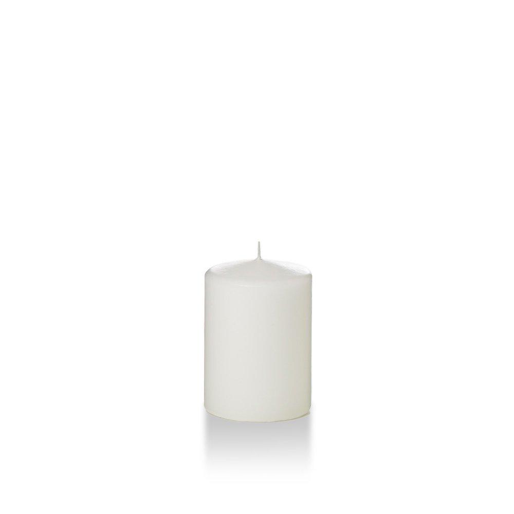 Yummi 3'' x 4'' White Round Pillar Candles - 3 per pack