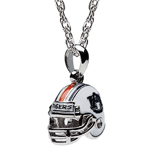 Auburn University Necklace | Auburn Tigers Football Helmet Pendant Necklace | Officially Licensed Auburn University Jewelry | AU Gifts | Auburn Tigers | Auburn University Charms | Stainless Steel