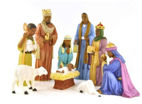 9 Piece Nativity Set: African -